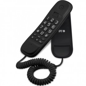 TELÉFONO DE SOBREMESA O PARED COMPACTO TELECOM 3601 NEGRO SPC