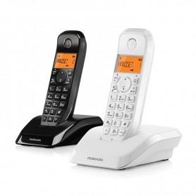 TELÉFONO INALAMBRICO DECT DIGITAL S1202 BLANCO Y NEGRO MOTOROLA