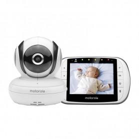 """VIGILABEBES VIDEO CON PANTALLA LCD A COLOR DE 2.8"""" BABY MBP 33S BLANCO MOTO"""