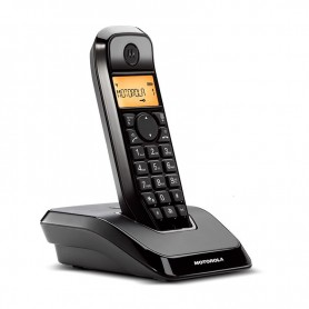 TELEFONO INALAMBRICO DECT DIGITAL S1201 NEGRO MOTOROLA