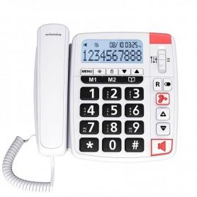 TELÉFONO SENIOR CON CABLE XTRA11500 BLANCO SWISSVOICE
