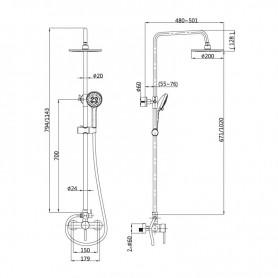 TUBO LED CRISTAL T8 9W 60CM LUZ FRÍA AIRMEC - AM130119