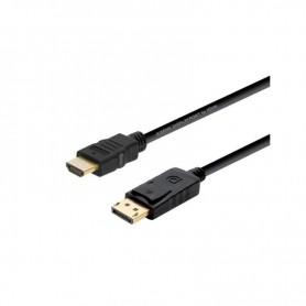 CABLE DISPLAYPORT A HDMI DP MACHO - HDMI MACHO 2M NEGRO AISENS
