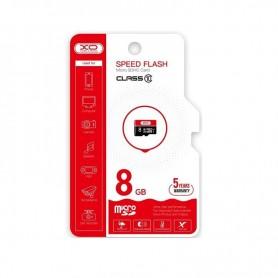 TARJETA MICROSD 8 GB HIGH LEVEL TF HIGH SPEED  XO