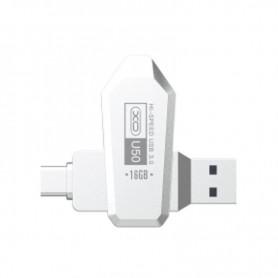 PENDRIVE OTG TIPO C USB 3.0 16GB PLATA XO