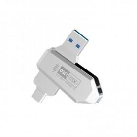 PENDRIVE OTG TIPO C USB 3.0 64GB PLATA XO