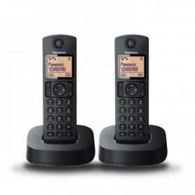 TELÉFONO INALÁMBRICO DECT DUO NEGRO PANASONIC
