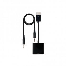 ADAPTADOR HDMI MACHO - VGA HEMBRA JACK 3.5 HEMBRA NANOCABLE