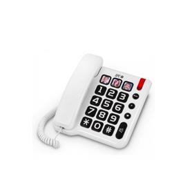 TELEFONO FIJO COMFORT NUMBERS BLANCO SPC