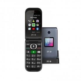 "TELÉFONO MÓVIL JASPER NEGRO DOBLE PANTALLA 2.8""/7.11CM SPC"