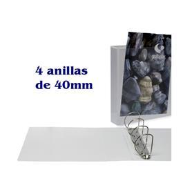 CARPETA CANGURO A4 4 X 40MM  BLANCO GRAFOPLAS