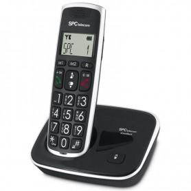 TELEFONO INALAMBRICO NEGRO DECT 7608N SPC