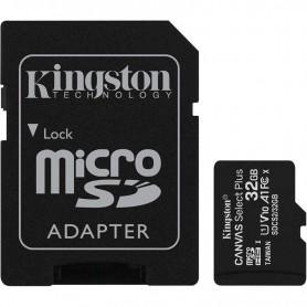 TARJETA MICROSD HC 32GB  ADAPTADOR CANVAS SELECT PLUS CLASE 10 KINGSTON