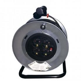 ENROLLADOR DE CABLE METALICO 25 MTS 3X1.5mm VOLTEN