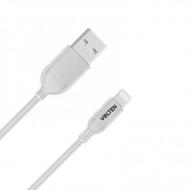 CABLE USB BLANCO 1 METRO IPHONE VOLTEN