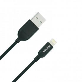 CABLE USB NEGRO 1 METRO IPHONE VOLTEN