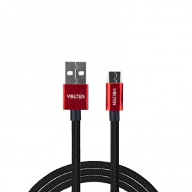 CABLE METAL 2.0 USB A TIPO C 1 METRO ROJO VOLTEN