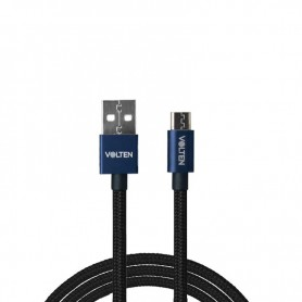 CABLE USB A MICRO USB AZUL 1 METRO VOLTEN