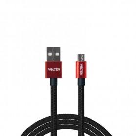 CABLE USB A MICRO USB ROJO 1 METRO VOLTEN