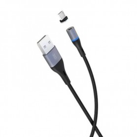CABLE MAGNETICO MICRO USB ALUMINIO 1METRO 2A LED XO
