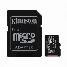 TARJETA MICROSD XC 128GB + ADAPTADOR CANVAS SELECT PLUS KINGSTON