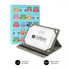 FUNDA TABLET UNIVERSAL TRENDY CASE OWLS 10.1 SUBBLIM