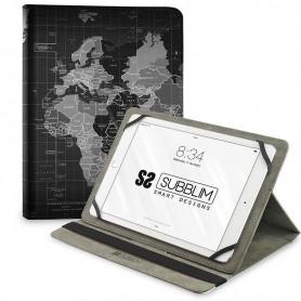 "FUNDA TABLET UNIVERSAL TRENDY CASE WORLD MAP 10.1"" SUBBLIM"
