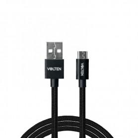 CABLE METAL 2.0 USB A MICRO USB 1 METRO NEGRO VOLTEN