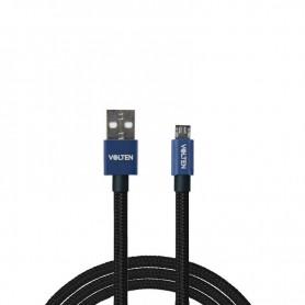 CABLE METAL 2.0 USB A MICRO USB 1 METRO AZUL VOLTEN