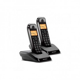 TELEFONO INALAMBRICO DECT S1202 DUO NEGRO MOTOROLA